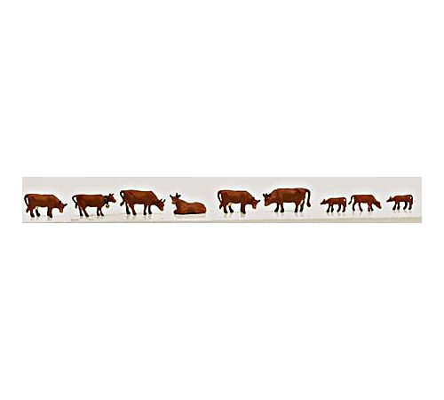 Model Power 1351 Brown Cows & Calves (9pcs)