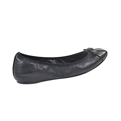 Tory Burch Ally Mestico Leather Ballet Flats Black Size 8