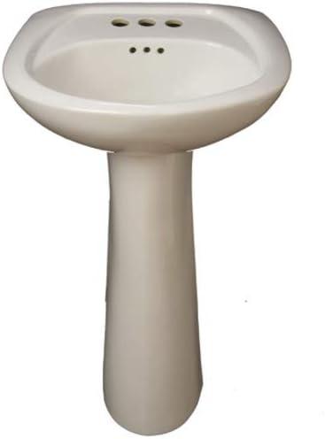 PROFLO PF5004BS 20 3 Hole Centerset Lavatory Pedestal Sink Only