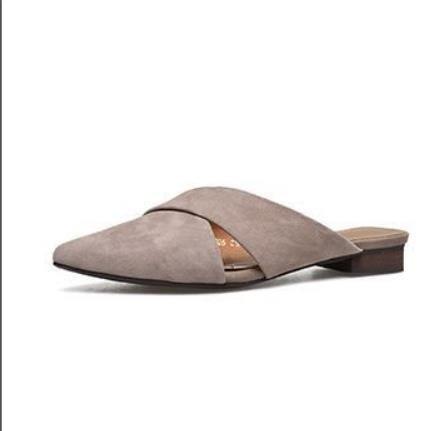 34 Brown Baotou plana AJUNR base Transpirable Sandalias elegante 37 salvaje zapatillas Moda sugerencia Pxwqg1