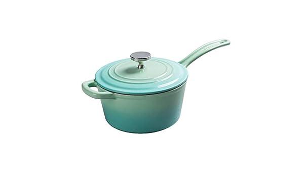 Cocina artesanal Olla De Hierro Fundido Olla De Sopa De Esmalte Antiadherente 19cm Suplemento de comida para bebés olla (color : A): Amazon.es: Hogar