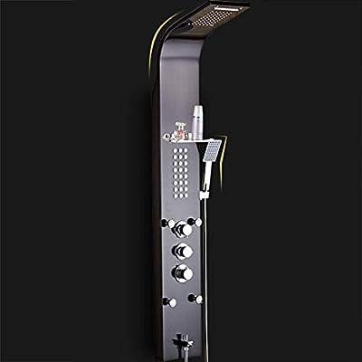 YDYG Panel de Ducha de Lluvia termostática Torre de Columna ...