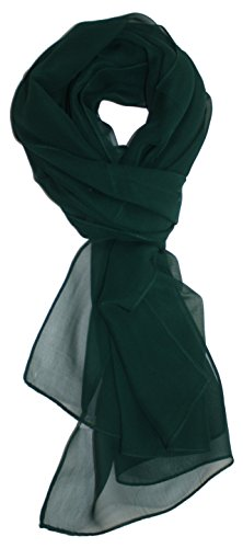 Forest Silk - Ted and Jack - Solid Silk Lightweight Accent Scarf in Deep Forest Green