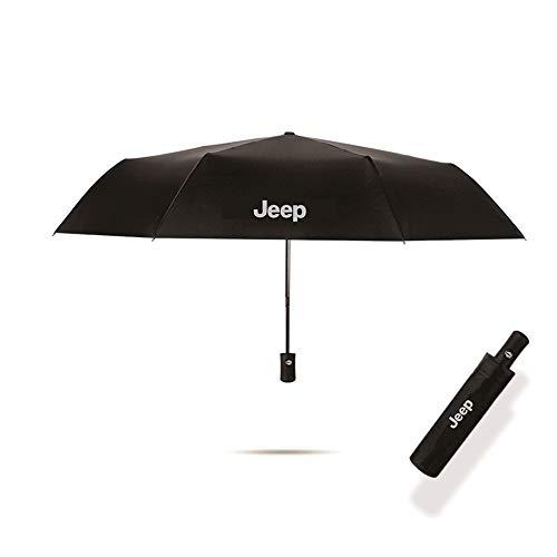 JSAMZ Fully automatic shrinkage - black business - wind -proof waterproof -sunshade - umbrella (For Jeep)