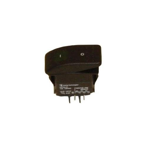 Jiffy Steamer 1125 green lighted rocker switch. (Jiffy Steamer Replacement compare prices)