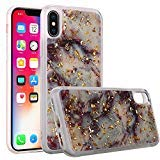 Best Vogue Iphone Cases - for Apple iPhone X Marble Glitter Case (Purple) Review