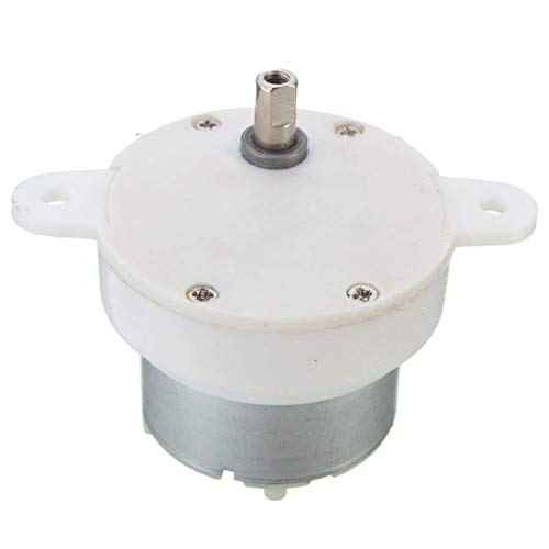 Yosoo 12V DC High Torque Slow Speed Electric Motor Gearbox 3 RPM 4mm Shaft Diameter (Low Rpm Dc Motor)