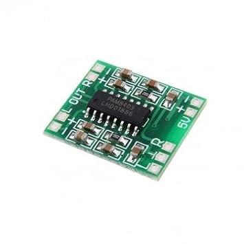 Tanzimarket - Alta calidad 5pcs PAM8403 digital USB miniatura Amplificador de potencia Junta 2.5V -