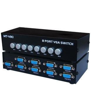8 Port VGA Video Switch - 8 VGA Input to 1 VGA Output - 8 Pc's to 1 Monitor