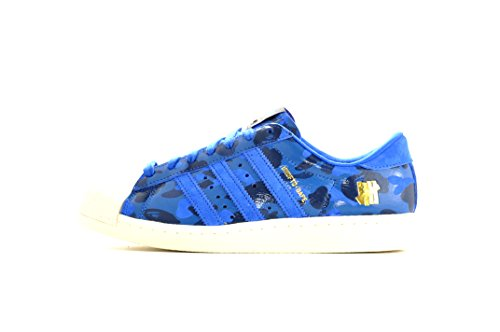 adidas Mens Superstar 80v - Undefeated x Bape Croyal/Dmarin-Cwhite Leather clearance best store to get outlet visit new cheap sale many kinds of VSL4Y2J