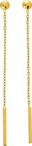 Robbez Masson - Boucles d'oreilles pendants - 11849 - Or jaune 750