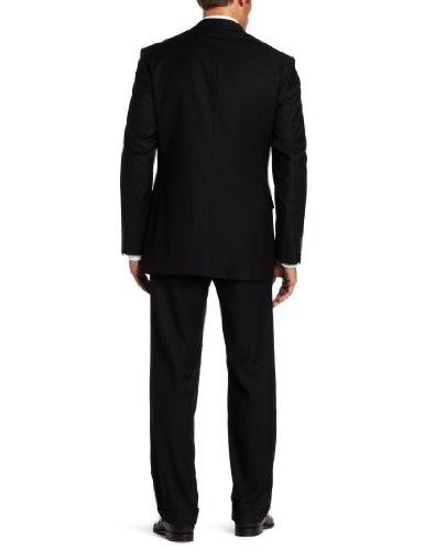 Geoffrey Beene Mens Black Solid Suit Separate Coat, Black, 40 Long by Geoffrey Beene (Image #2)