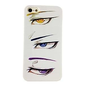 TY-Patrón Especial Diseño Punk Ojos del estuche rígido para el iPhone 5/5S Porlycarbonate