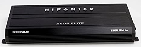 Amazon.com: Hifonics Zeuz ELITE ZEX3350.1D Car Audio 3300 Watts RMS Mono Block Amp with Blue illuminated Logo 1 Ohm Stable Class D Subwoofer Black Amplifier ...
