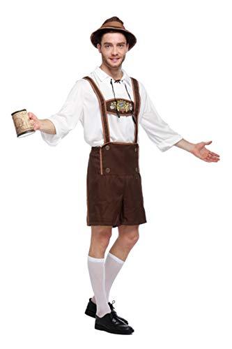 Men's Oktoberfest Costume Set German Bavarian Guy Outfits Adult Stage Costumes (Medium)