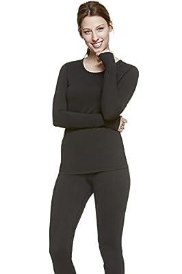 WuhouPro Women's Ultra Soft Microfiber Fleece Thermal Underwear Long Johns