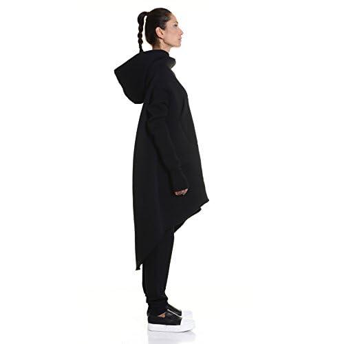 Extravagant Maxi Asymmetric Hoodie high-quality