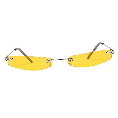 Uv Femme Soleil Protection Plastique Unisexe Jaune Prettyia Homme Lunettes De P Lentille Accessoire gqtpz00w