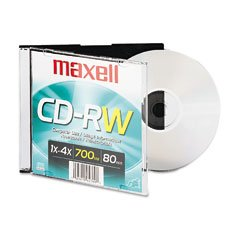 Maxell CD-RW Branded Surface 650MB/74min 4x by Maxell