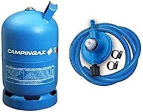 Bombona completa Campinga, art. 909 con 5,70 kg de gas + kit regulador original Campinga.