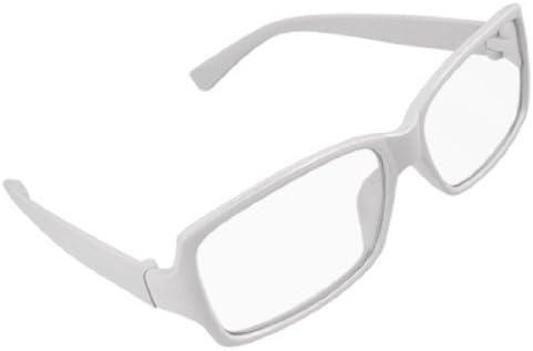 プラスチックホワイトフレームアームズリムドクリアレンズユニセックスメガネ