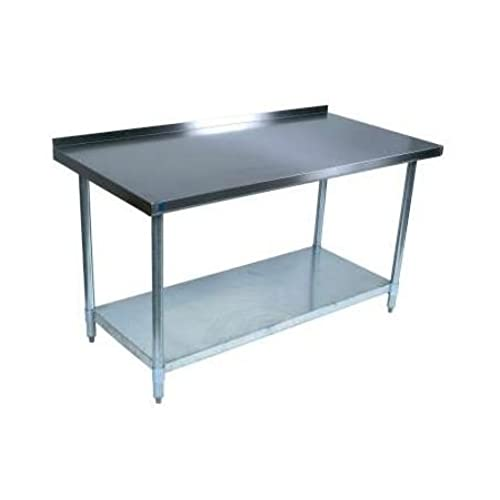"Cheap BK Resources WT-3048B Stainless-Steel Work Table w/ Backsplash | 48"" x 30"" free shipping"
