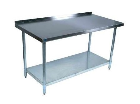 BK Resources WT-3048B Stainless-Steel Work Table w/ Backsplash | 48'' x 30'' by BK Resources