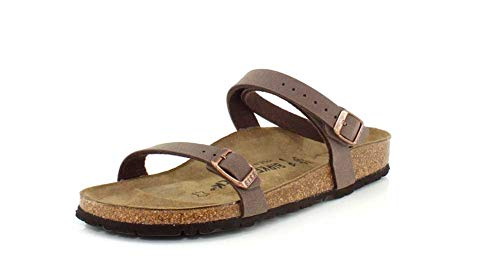 Price comparison product image Birkenstock Women's Daloa Sandals (38 M EU / 6-6.5 2A(N) US,  Mocha Birkibuc)