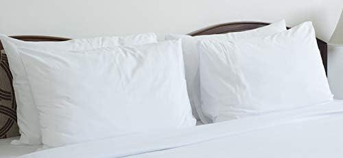 6 new bright white t200 premium pillow cases standard size hotel grade