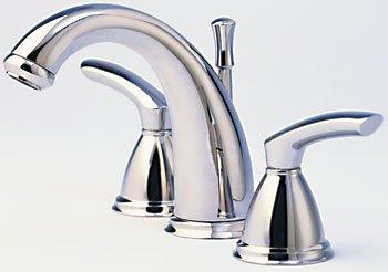 Santec Britani Collection Widespread Lav Faucet Set with BL Handles, Satin Nickel Finish (Faucet Widespread Lav Set)
