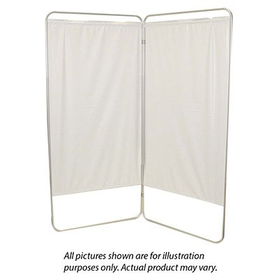 Standard 2-Panel Privacy Screen - Yellow 4 Mil Vinyl, 35'' W X 68'' H Extended, 19'' W X 68'' H X1.5'' D Folded - 1 Each / Each - 65-0100Y