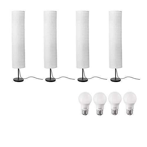 Ikea Holmo Floor Lamp and Bulb Bundle Includes - Four Ikea H
