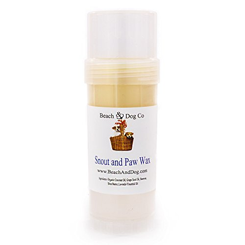 Beach & Dog Co Snout and Paw Wax - for Dry Chapped Cracked Noses and Paws - All Natural and Organic (2 oz Twist Stick)