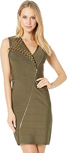 bebe Womens Joan Studded Bandage Dress Kalamata MD