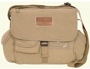 Retro Messenger Bag, USA Khaki ()