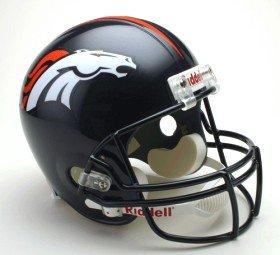 Denver Broncos Official NFL Football Helmet by Riddell by Riddell