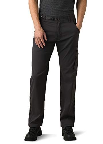 prAna - Men's Stretch Zion Lightweight, Durable, Water Repellent Pants for Hiking and Everyday Wear, 34' Inseam, Charcoal, 33