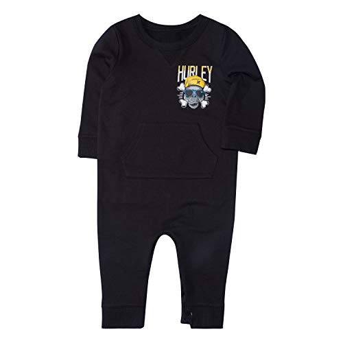 Hurley Baby Long Sleeve Coverall, black 0/3M]()