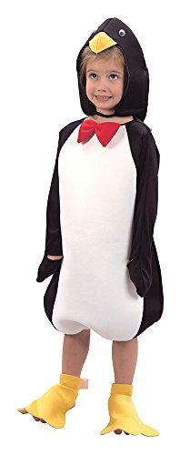Baby Penguin Costume Uk (Toddlers Penguin Hat, Jumpsuit & Foot Covers Costume by Bristol Novelty)