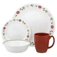 Corelle Spring Pink 16 Pc. Dinnerware Set (Pink Corelle Dishes)