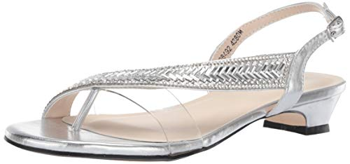 - Touch Ups Women's Eleanor Sandal, Silver, 10.5 M US