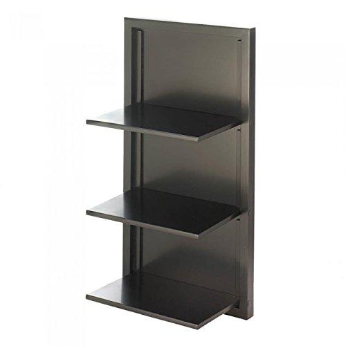 Koehler 10017988 29.5 Inch Black Folding Wall Shelf Home Decor