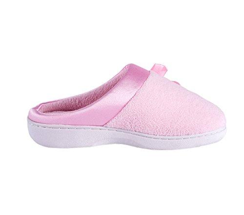Fluffy Slippers Slip Pink Clog KushyShoo on Women's Winter tFZqSUw