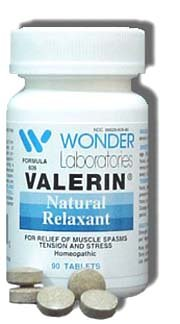 LEG CRAMPS, MUSCLE CRAMPS Natural Relaxant Valerin® Valerin® - 90 Capsules #6061