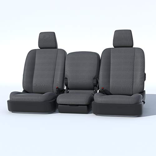 Durafit Seat Covers D1334-C8-FBA, Seat Covers Made in Gray Endura for 2013-2018 Dodge Ram Front 40/20/40 Split Bench with Opening Center Console. 20 Section seat Bottom Does NOT - Cover Dodge Front