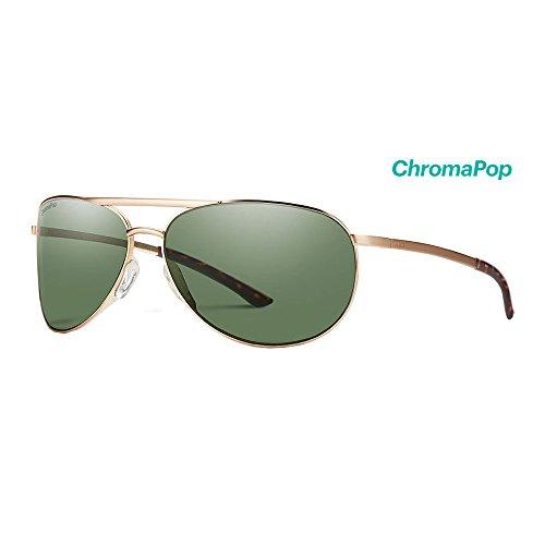 (Smith Serpico Slim 2 ChromaPop Polarized Sunglasses, Matte Gold)