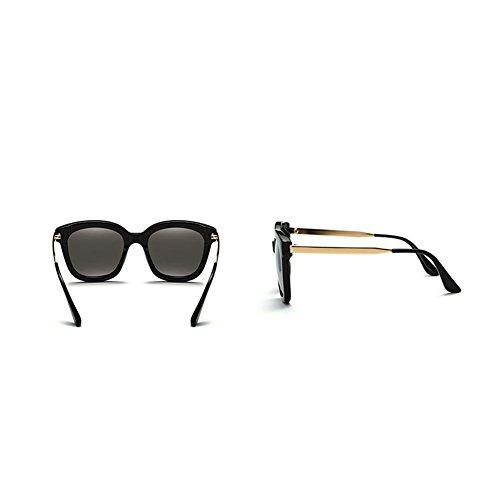 la de Gafas Color Espejo Sol Ultravioleta Protección de 1 Espejo Gafas de de Conducción DT Femenino de Espejo Sol Redondo 5IxqfnA