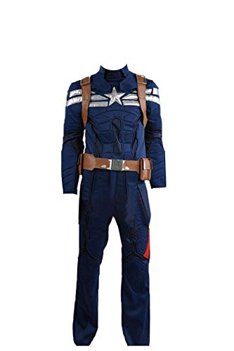 Captain America 2: Winter Soldier Steve Rogers Cosplay Costume Blue]()