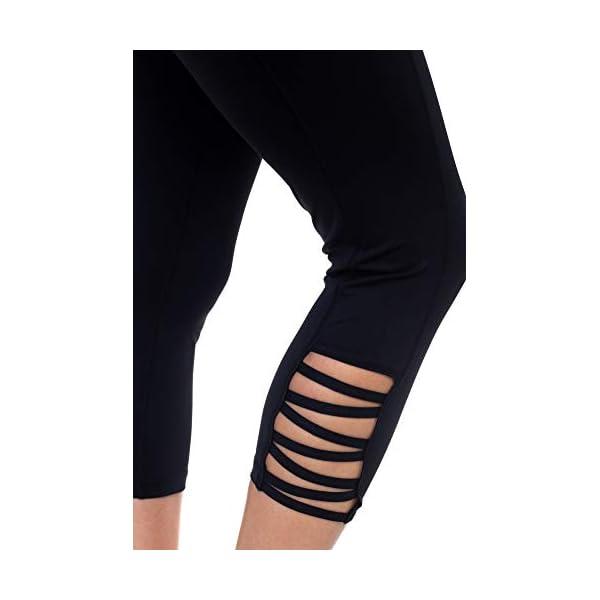 Aeko Yoga Power Flex Fit Running Pants Workout Leggings 4 Way Stretch For Women