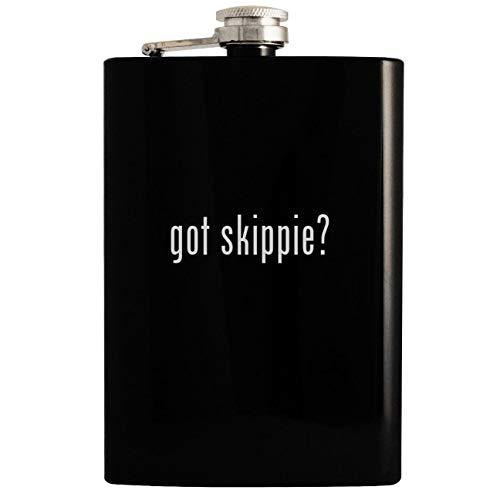 - got skippie? - Black 8oz Hip Drinking Alcohol Flask
